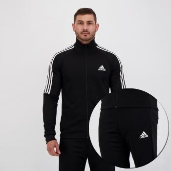 Agasalho Adidas Sereno 3 Stripes Preto
