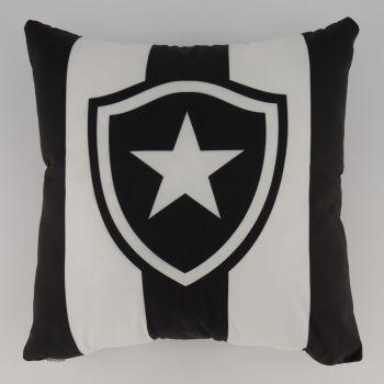Almofada Quadrada Botafogo Preta e Branca