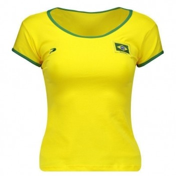 Baby Look Placar Brasil Feminina