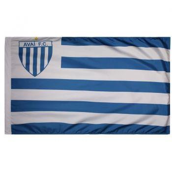 Bandeira Avai Torcedor Escudo Branca e Azul