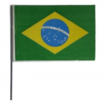Bandeira Brasil Com Haste