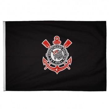 Bandeira Corinthians Torcedor 2 Panos Preta