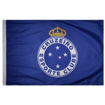 Bandeira Cruzeiro Torcedor Escudo Azul Royal