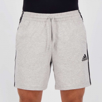 Bermuda Adidas 3 Stripes Cinza