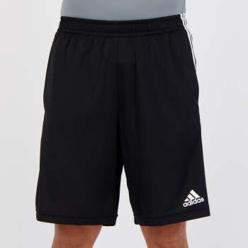 Bermuda Adidas 3 Stripes Preta e Branca