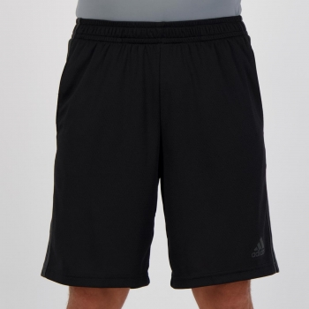 Bermuda Adidas 3 Stripes Preta e Cinza