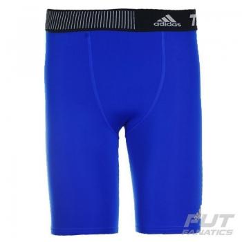 Bermuda de Compressão Adidas Techfit Base 9 Azul