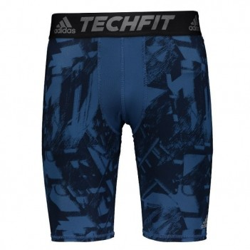 Bermuda de Compressão Adidas Techfit Base Estampada