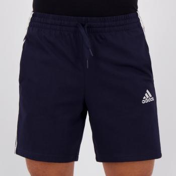 Bermuda Moletom Adidas Essentials Marinho