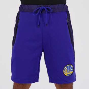 Bermuda Moletom NBA Golden State Warriors Azul