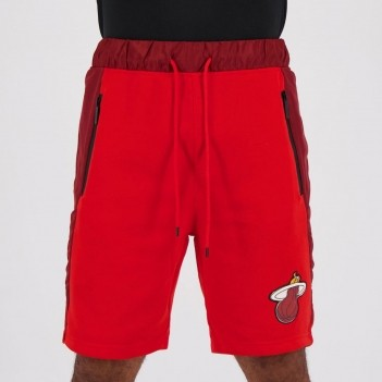 Bermuda Moletom NBA Miami Heat Essentials Vermelha