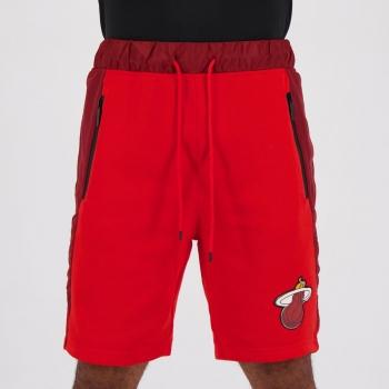 Bermuda Moletom NBA Miami Heat Essentials Vermelha