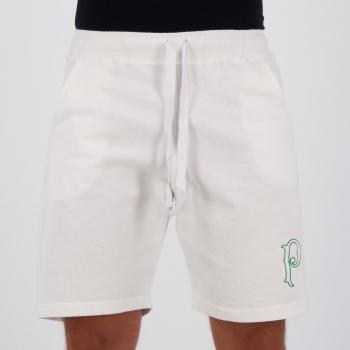 Bermuda Moletom Palmeiras Basic Branca