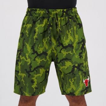 Bermuda NBA Chicago Bulls Camuflada Verde