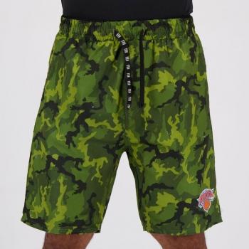 Bermuda NBA New York Knicks Camuflada Verde