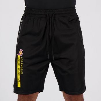 Bermuda NBA Sintética Los Angeles Lakers Preta