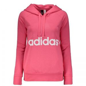 Moletom Adidas Linear Essentials Feminino Rosa