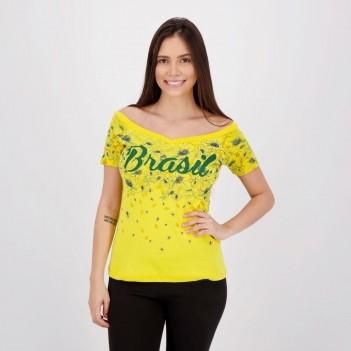 Blusa Brasil Juruena Feminina Amarela
