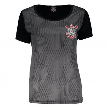 Camisa Corinthians Cubos SCCP Feminina Preta