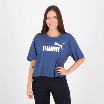 Cropped Puma Essentials Feminino Azul