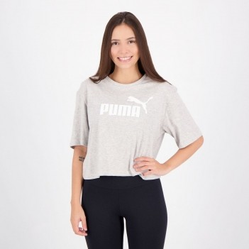 Cropped Puma Essentials Feminino Cinza