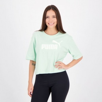 Cropped Puma Essentials Feminino Verde