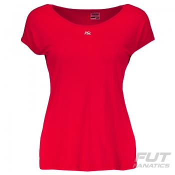 Blusa Kanxa Crep Pome Feminina Vermelha