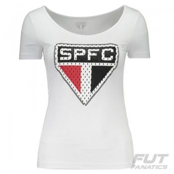 Camiseta São Paulo Costura Feminina Branca