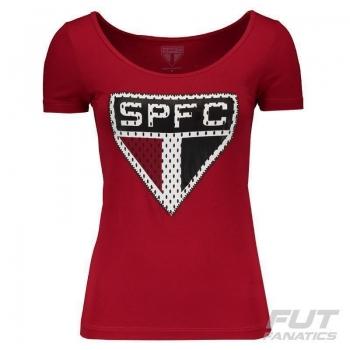 Camiseta São Paulo Costura Feminina