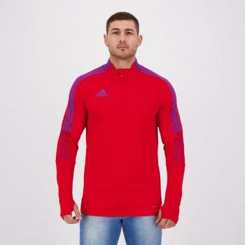Blusão Adidas Tiro Treino Prime Vermelho