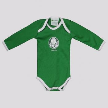 Body Palmeiras Basic Manga Longa Verde