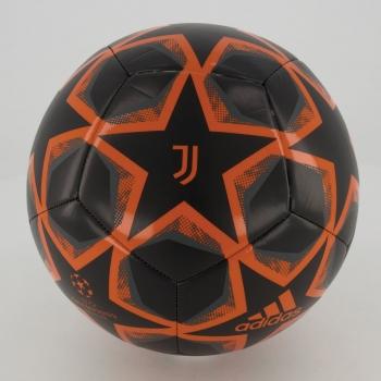 Bola Adidas Juventus Fin 20 Club Campo Preta e Laranja