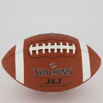 Bola de Futebol Americano Spalding J5J Marrom e Branca