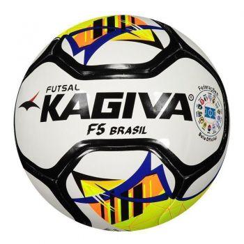 Bola Kagiva F5 Brasil Futsal Branca e Preta