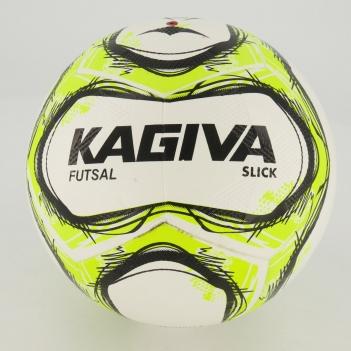 Bola Kagiva Slick Futsal Branca e Amarela