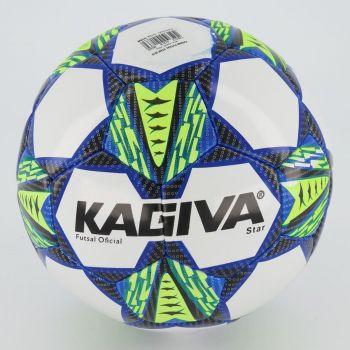 Bola Kagiva Star Futsal Branca e Amarela