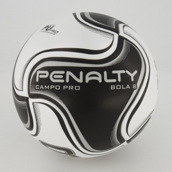 Bola Penalty 8 Pro Campo Preta e Branca
