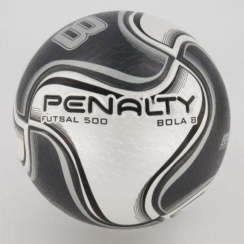 Bola Penalty 8 X Futsal Cinza e Preta