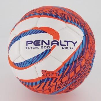 Bola Penalty Digital Duotec X Futsal Laranja e Branca