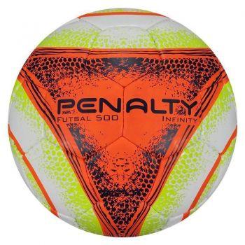 Bola Penalty Infinity 500 VIII Futsal Branca e Laranja