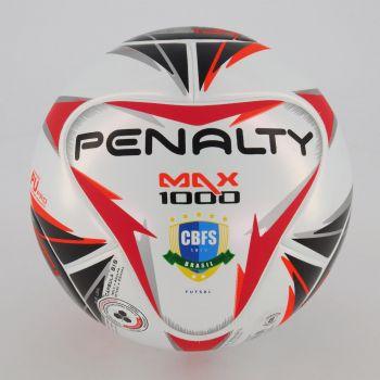 Bola Penalty Max 1000 Futsal Branca e Laranja