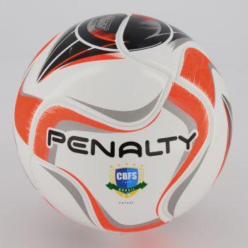 Bola Penalty Max 100 Term X Futsal Branca e Laranj