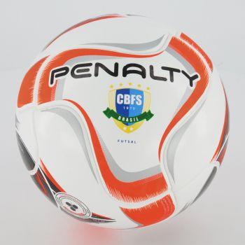 Bola Penalty Max 200 Term X Futsal Branca e Laranja