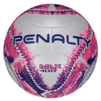 Bola Penalty Max 400 IX Futsal Rosa e Roxa