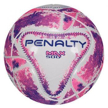 Bola Penalty Max 500 Term lX Futsal Branca e Rosa