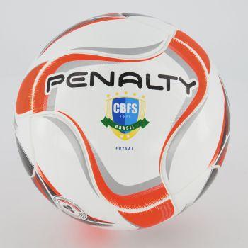 Bola Penalty Max 500 Term X Futsal Branca e Laranja