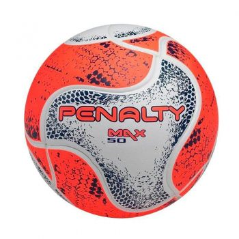 Bola Penalty Max 50 CBFS VIII Futsal Laranja e Bra