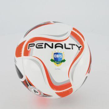 Bola Penalty Max 50 Term X Futsal Branca e Laranja
