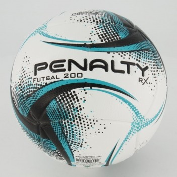 Bola Penalty RX 200 XXI Futsal Branca e Preta