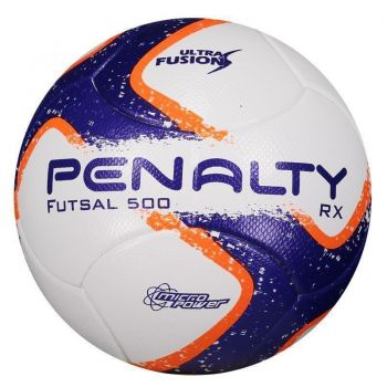 Bola Penalty RX 500 R1 Fusion VIII Futsal Branca